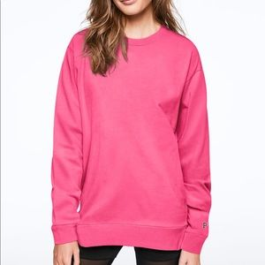 VS PINK Campus long sleeve ringer tee size XS